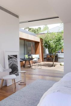 Courtyard House developed by Matt Gibson Architecture + Design . Find all you need to know about Courtyard House products and more from Bookmarc. House Design, Home Deco, Terrace House, Courtyard House, Outdoor Bedroom, House, Victorian Terrace House, New Homes, Patio Interior