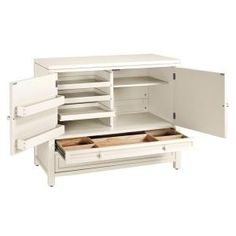 $420 Martha Stewart Living, 42 in. W Picket Fence Craft Space Storage Cabinet, 0463800400 at The Home Depot - Mobile