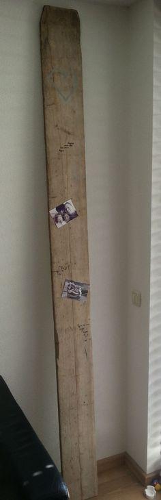 Meetplank van steigerhout