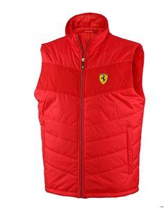 Kamizelka Ferrari Padded Vest - Red 3 | FERRARI MEN \ KAMIZELKI I KURTKI | Fbutik | Scuderia Ferrari Collection