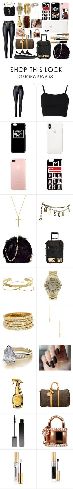 """""""Untitled #236"""" by duhitzparis ❤ liked on Polyvore featuring Topshop, Apple, Natalie B, Moschino, adidas, Rolex, Bagutta, ERTH, Kylie Cosmetics and Louis Vuitton"""