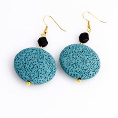 Touch of Blue Earrings by JewelsByCrys on Etsy, $10.00