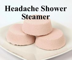 natural headache remedies Headache Relief Shower Steamer by PinkParchmentSoaps on Etsy - Shower Bombs, Bath Bombs, Natural Headache Remedies, Natural Cures, Shower Steamers, Headache Relief, Headache Oil, Home Made Soap, Homemade Beauty