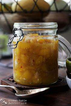 Mango and Ginger Chutney. See also the Spicy board/category. Jam Recipes, Canning Recipes, Sauce Recipes, Curry Recipes, Paleo Recipes, Free Recipes, Chutneys, Indian Food Recipes, Real Food Recipes