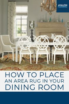Get the top tips for choosing the perfect size area rug for your dining room!