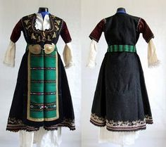 Traditional Thracian Costumes *Bulgaria saw Thracian occupation --hey, that rhymed-- before the Romans conquered it by the early 100's AD. That's why some traditional Bulgarian costume still bears visible Thracian influences.*
