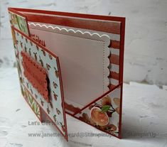 Fancy Fold Cards, Folded Cards, Youre A Peach, Sweet Peach, Stamping Up Cards, Cardmaking, Stampin Up, Card Stock, Birthday Cards