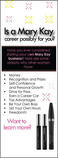 Want to learn more about #MaryKay? DM me or visit Facebook.com/monicasteinbrechermarykay!
