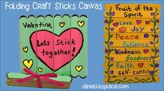 Folding Craft Stick Canvas Craft
