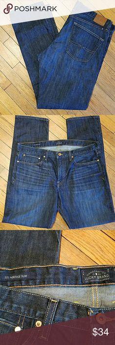 Lucky Brand heritage slim 38 waist 34 length Lucky Brand heritage slim 38 waist 34 length in excellent condition. Lucky Brand Jeans