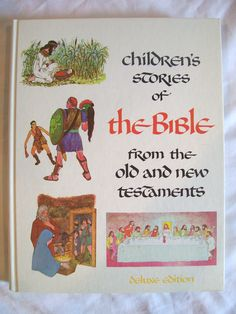 Vintage Children's Stories of the Bible Book by jclairep on Etsy, $10.00