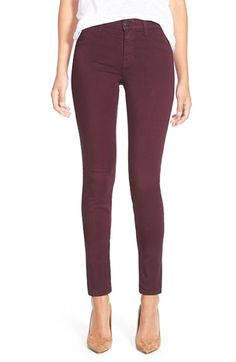 J Brand Ankle Super Skinny Jeans (Deep Mulberry) size 25
