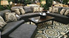 This stunning dark leather living room set will have your home feeling sophisticated yet comfortable and can be dressed up or down as you'd like. Let your personal style shine through the use of your favorite decorative accessories and accent colors. | Houston TX | Gallery Furniture |