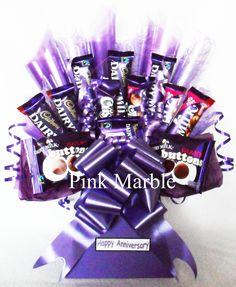 flowers and cadbury chocolate