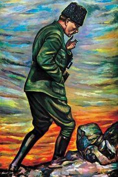 Mustafa Kemal Ataturk, first president of the Republic of Turkiye. Ataturk fought hard to make Turkiye a secular democratic modern nation. Art Sketches, Art Drawings, Drawing Tutorials For Beginners, Radio Talk Shows, Felt Purse, City Of Angels, Fun Challenges, Felt Animals, Vincent Van Gogh