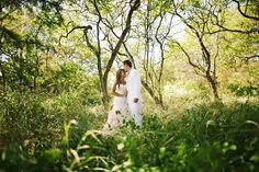 Newlyweds in the forest of Maui, Hawaii- Anna Kim Photography