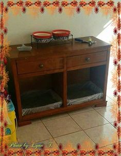 Have cats? How about needing to keep the dog out of their food?  (Photo & Idea by my friend, Lynn T.)   ♥✿SHARE♥✿SHARE♥✿SHARE✿♥   Take an old credenza into a litter box. Double sides will give you space for two if you have multiple cats.Put the food and water on top and keep the dog out of their food as well.  My friend took hers and made it to work and you can too! SHARING IS CARING & YOU WILL HAVE IT FOR LATER!!!! Join our group for more great ideas…