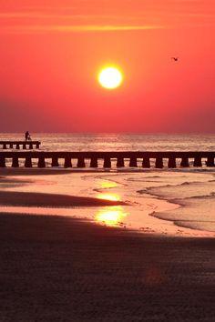 Beach Sunrise   Jesolo, Venice, Italy #sunrise #beach_sunrise #venice
