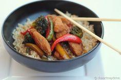 Chicken Stir Fry - basically just veggies, chicken & Yoshida's Gourmet Sauce