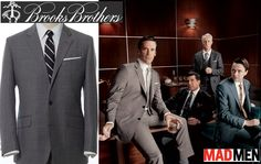 Mad Men inspired suit from Brooks Brothers grey suits, mad men, suit collect