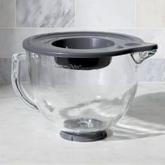 Free Shipping.  Shop KitchenAid ® Stand Mixer Glass Mixer Bowl.  Add another bowl to your KitchenAid® mixer, a microwave-safe one with calibrated measurements, comfortable handle and convenient snap-top lid with pouring spout.