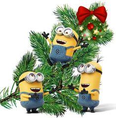 Merry Christmas Minions, Xmas, Christmas Ornaments, Holiday Decor, Christmas, Deco, Christmas Jewelry, Navidad, Noel