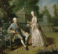 Louis Jean Marie de Bourbon, duc de Penthièvre, et sa fille Louise Adelaïde, Mademoiselle de Penthièvre (future Duchesse d'Orléans) by J. B....
