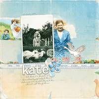 Kate, Lynn Grieveson digital scrapbooking