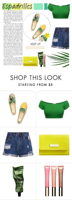"""""""Step into Summer: Espadrilles"""" by veronicawantscurves ❤ liked on Polyvore featuring Seed Design, Tory Burch, MANGO, Aesop, Erdem and Clarins"""