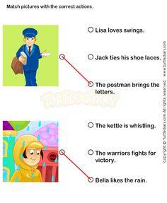 Action Verbs Worksheets 6 - esl-efl Worksheets - kindergarten Worksheets