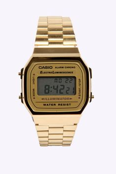 gold casio watch, a fashion must have.