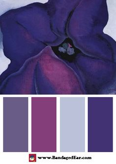 Purple Color Palette: Purple Petunias, 1925, Art Print by Georgia O'Keeffe