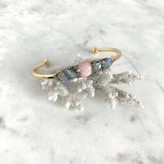Raw Stone Cuff, Boho Labradorite Bracelet, Birthstone Cuff, Pyrite Cuff Bracelet, Mineral Cuff, Pink Opal Bracelet, Boho Wedding Raw Cuff