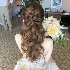 Hair Makeup - Back Indian Wedding Hairstyles, Hair Setting, Prom Hair, Wedding Tips, Hair Looks, Wedding Makeup, Bridal Hair, Braided Hairstyles, Wigs
