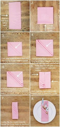 Eight Steps To Get A Pink Cutlery Pocket Napkin