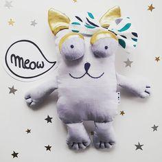 Sweet cotton kitten 🐱 M E O W. Ready to shipping :) #cat #plushcat #plushies #plushie #handmadedolls #sewing #dollmaker #stuffedtoys  #stuffedanimal #etsybaby #etsy  #sewcute #bigeyes #funny #softtoy #gift #kitten #bow #love #bestfriend #instagood #cute #happy #friends #smile #dladziecka #przytulanka #maskotka #pluszak #pokojdziecka