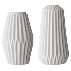 Porcelain+Vase+2er Pack,+Weiss,+Bloomingville