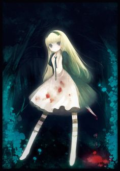 Cat Girl Yandere Dark Anime People Adventures In Wonderland Alice