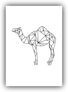 Minimalist Geometric Decor,camel. Minimalist Decor, Black and White*105* #Handmade #PopArt