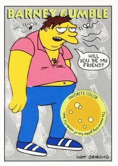 1993 SkyBox the Simpsons #S38 Barney Gumble Front