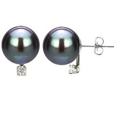 14k White Gold .06ctw SI3-I1 Clarity / G-H Color Diamond 8-9mm Perfect Round Hand-pick Genuine Black South Sea Tahitian Pearl High Luster Stud Earring AAA Quality. by La Regis Pearl & Gemstones - See more at: http://blackdiamondgemstone.com/jewelry/earrings/stud/14k-white-gold-06ctw-si3i1-clarity-gh-color-diamond-89mm-perfect-round-handpick-genuine-black-south-sea-tahitian-pearl-high-luster-stud-earring-aaa-quality-com/#!prettyPhoto