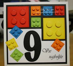 ***** Papiart ***** : Lego Birthday Card - awesome idea!
