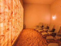 Himalayan Salt Room, Himalayan Salt Crystals, Whitefish Lodge, Whitefish Montana, Spa Design, House Design, Salt Room Therapy, Spa Hammam, Lake Mcdonald Lodge