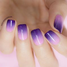 If you like purple then these nails are great for you! :)