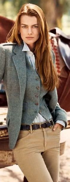 I've always loved the look of a three piece suit. While this might be overdoing it at the office, this would be awesome for an old western costume. Sorry, Ralph Lauren...