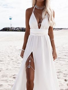 Hele Leg Chain - - Hele – Coins Leg Chain – Riviera Coco Source by Cute Wedding Dress, Dream Wedding Dresses, Prom Dresses, Summer Dresses, Formal Dresses, Wedding Beach, White Beach Dresses, Bohemian Beach Wedding Dress, Beach Wedding Jewelry