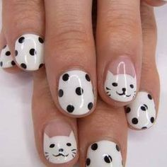 Polka dots and kitties!
