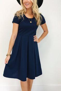Grace Dress in Navy_Model 2.jpg