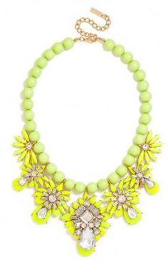 Idée et inspiration Bijoux :   Image   Description   Chartreuse Pineapple Bib – StackDealz