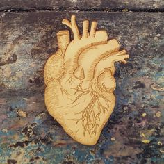Anatomical Heart Anatomy laser cut wood by on Etsy Heart Anatomy, Anatomy Art, Laser Cut Wood, Laser Cutting, Tattoo Font For Men, Illusion Photography, Watercolor Mandala, Anatomical Heart, Human Heart